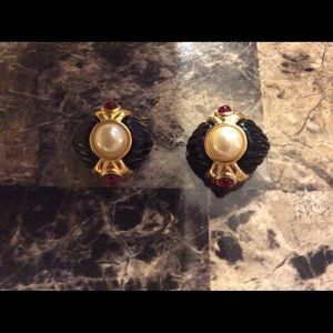 Ivana Trump earrings clip back